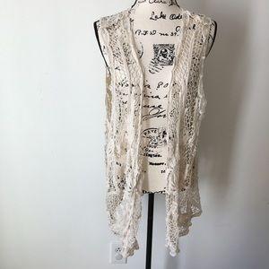 Jackets & Blazers - 💝Crochet lace vest One Size